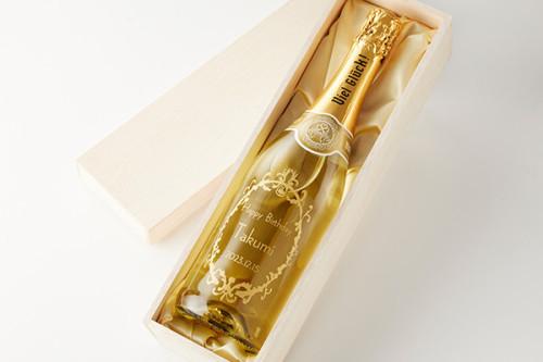 【名入れ酒】金箔入りスパークリングワイン