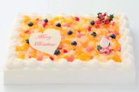 クリスマスケーキ2018 スクエア フルーツデコレーション 30cm×40cm
