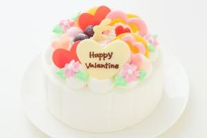 バレンタイン Love Love生クリームデコレーション 5号 15cm