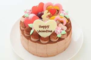 バレンタイン Love Love生チョコデコレーション 5号 15cm
