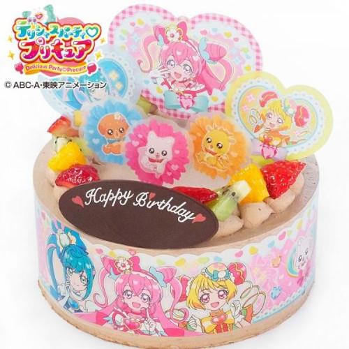 キャラデコお祝いケーキ スター☆トゥインクルプリキュア チョコクリームショートケーキ 5号 15cm
