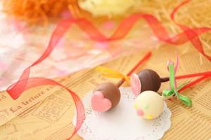 バレンタイン2019 手作り代行 CUTEでPOPなロリポップ★チョコレート 3本セット