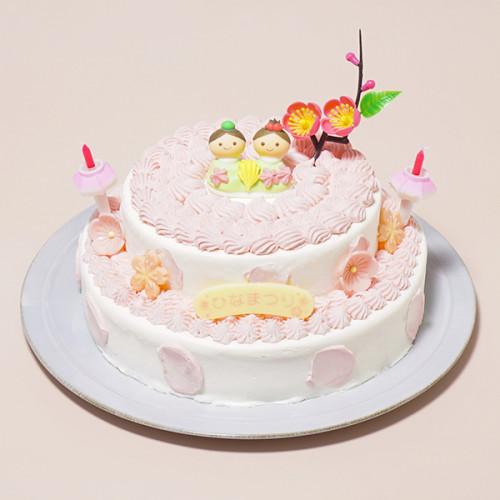 ひなまつり2019 2段苺のデコレーションひな祭りセット 5号×7号