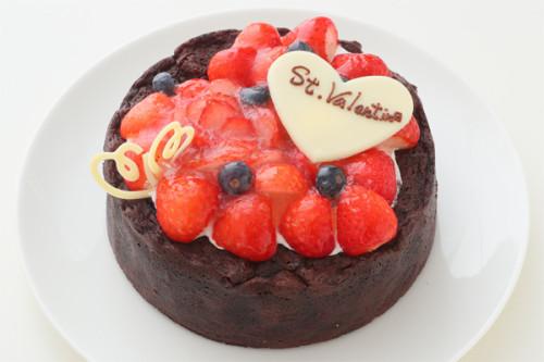 バレンタイン2019 バレンタインケーキ  ストロベリーガトーショコラ 4号 12cm