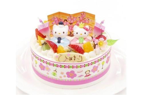 ひなまつり2020 キティーちゃんひな祭りデコレーション 5号 15cm cream-5-hina-hk