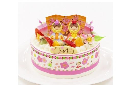 ひなまつり2020 ひな祭りNON卵デコレーション 5号 15cm cream-5-noegg-hina
