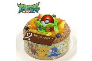 キャラデコお祝いケーキ ポケットモンスター サン&ムーン チョコクリームショートケーキ 5号 15cm