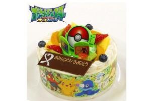キャラデコお祝いケーキ ポケットモンスター サン&ムーン 生クリームショートケーキ 5号 15cm