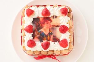 苺のスペシャルフォトケーキ 15×15cm