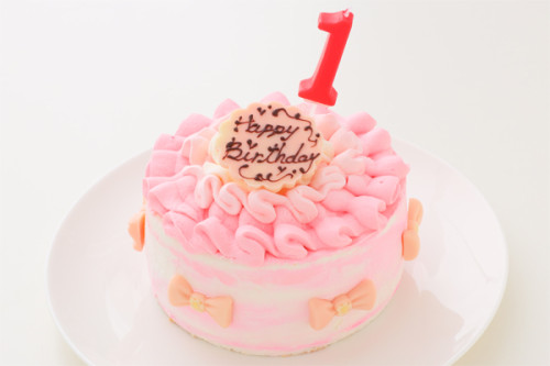 スマッシュケーキ ピンク 4号 12cm