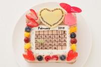 カレンダーアニバーサリー 生チョコクリームショコラタイプ 5号 13×13㎝