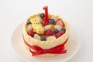 うさぎのフィナンシェ付 4号 豆乳クリームのファーストバースデーケーキ