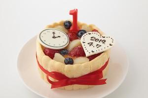 Birth time付き 豆乳クリームのファーストバースデーケーキ 4号 12cm