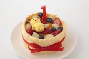 くまのフィナンシェ付 豆乳クリームのファーストバースデーケーキ 4号 12cm
