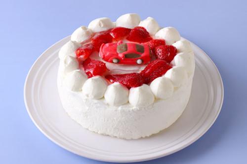 卵・乳製品・小麦粉除去可能 車 生デコレーションケーキ  5号 15cm