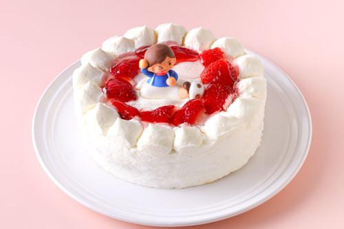乳製品・小麦粉除去可能 女の子 生デコレーションケーキ  5号 15cm