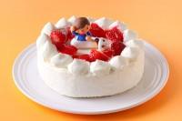 卵・乳製品・小麦粉除去可能 女の子 生デコレーションケーキ  5号 15cm