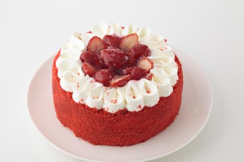 いちごとラズベリーのデコレーションケーキ 4号 12cm