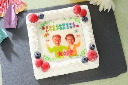 敬老の日2019 敬老の日写真ケーキ 12cmx12cm