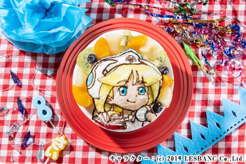 立体生クリームデコレーション キャラクターケーキ 5号 15cm