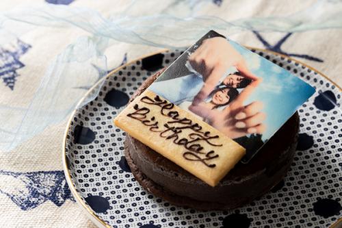 低糖質ケーキ 写真ケーキ ガトーショコラ 4号 12cm