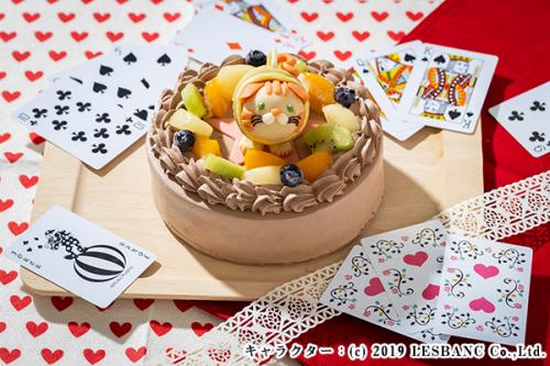 プラチョコ チョコ生デコケーキ 5号 15cm
