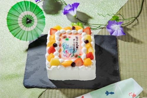 暑中見舞いケーキ(金魚) 生 6号 18cmx18cm