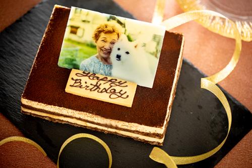 低糖質ケーキ 写真ケーキ ティラミス 13.5x11cm 4.5号