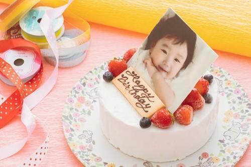 低糖質ケーキ 写真ケーキ 生クリームデコレーション 4号 12cm