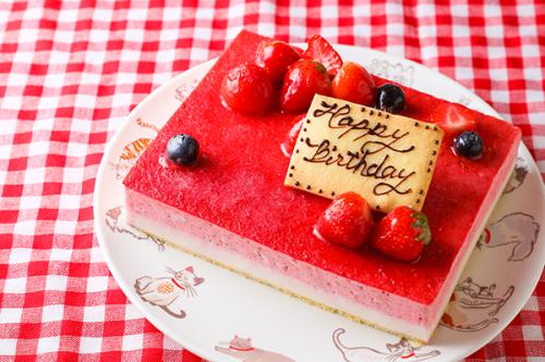 低糖質ケーキ 砂糖不使用! 苺ココナッツ 13.5x11cm 4.5号
