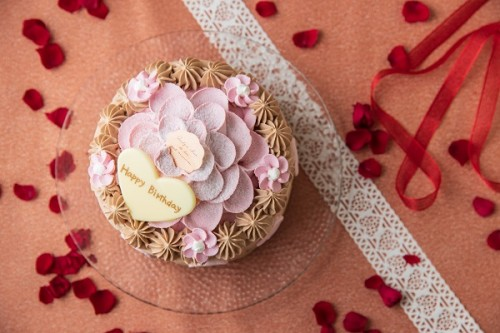 チョコとベリーのお花ケーキ 4号 12cm