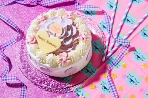 紫芋のお花ケーキ 4号 12cm