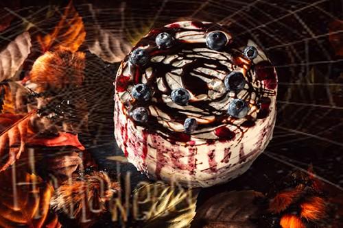 ハロウィン2019 クモの巣デコレーションケーキ 5号 15cm