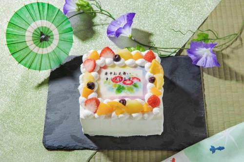暑中見舞いケーキ(朝顔) 生 6号 18cmx18cm