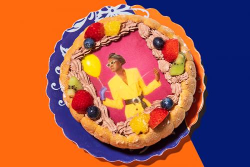 写真ケーキ チョコ生クリーム 5号 15cm