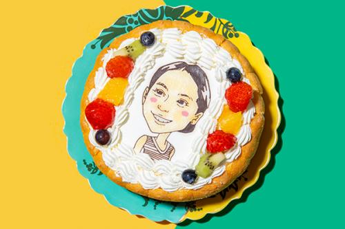 似顔絵ケーキ 生クリーム 5号 15cm
