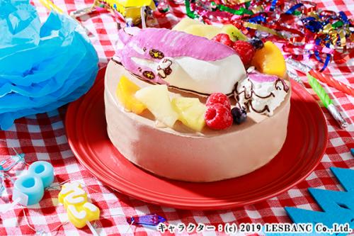 立体チョコ生デコレーションケーキ キャラクター 土台あり 5号 15cm