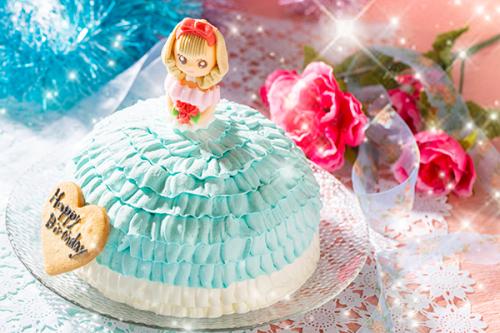 ドールケーキ ブルー 5号 15cm