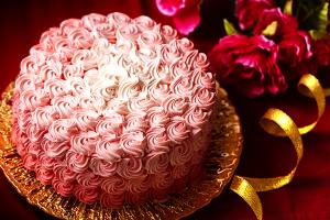 ローズケーキ バタークリームデコレーション 4号 12㎝
