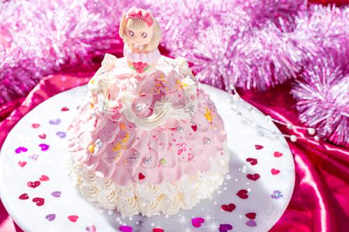 プリンセスケーキ ひらひら ドールケーキ 生クリーム 4号 12㎝