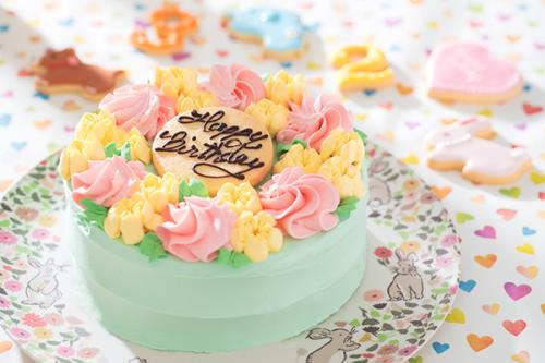 お花畑デコレーション バタークリームケーキ 4号 12㎝