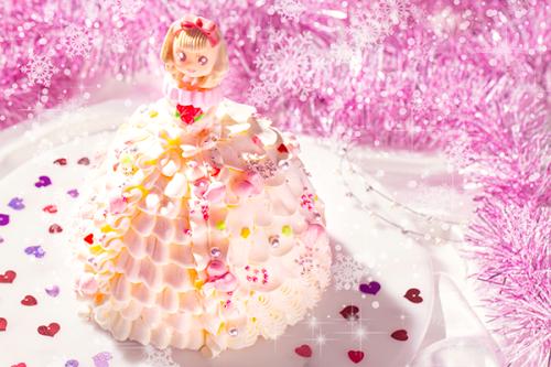 プリンセスケーキ ハート ドールケーキ 生クリーム4号 12cm