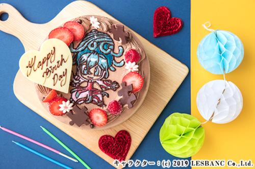 イラストケーキ チョコ生クリーム 5号 15cm