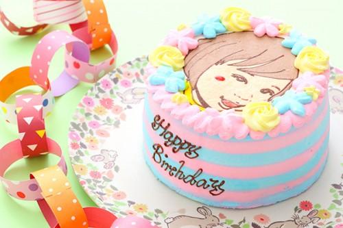 似顔絵ケーキ 5号 15cm