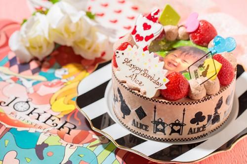 写真ケーキ チョコ生クリーム 4号 12cm