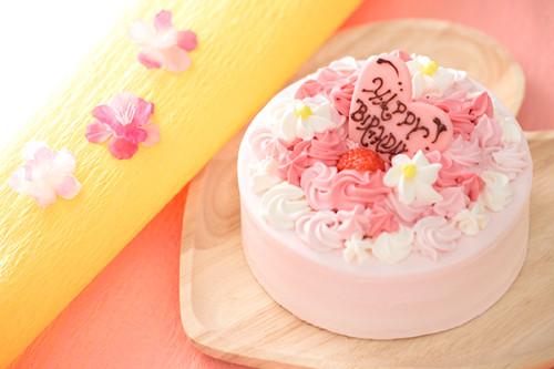 苺クリームのお花畑ケーキ♪ 4号 12cm