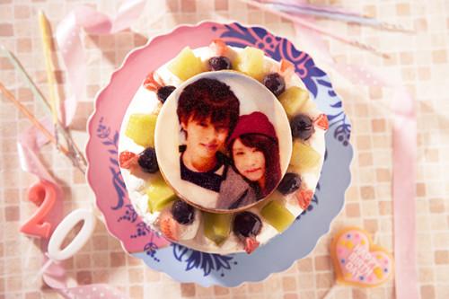 写真ケーキ 苺サンド生クリームケーキ 4号 12cm