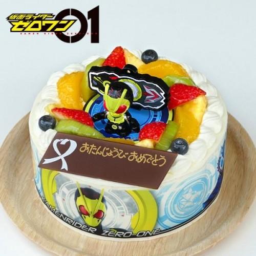 キャラデコお祝いケーキ 仮面ライダーゼロワン 生クリームショートケーキ 5号 15cm