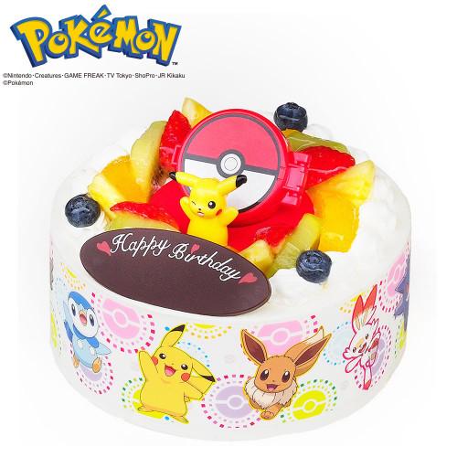 キャラデコお祝いケーキ ポケットモンスター 生クリームショートケーキ 5号 15cm