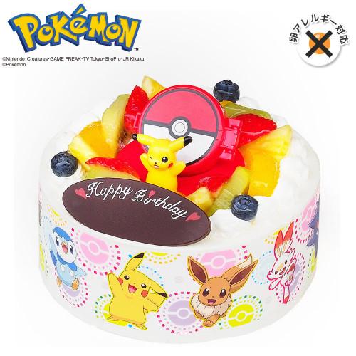 卵除去 キャラデコお祝いケーキ ポケットモンスター 生クリームショートケーキ 5号 15cm